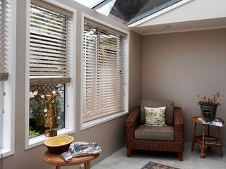 PVC Venetians in Conservatory